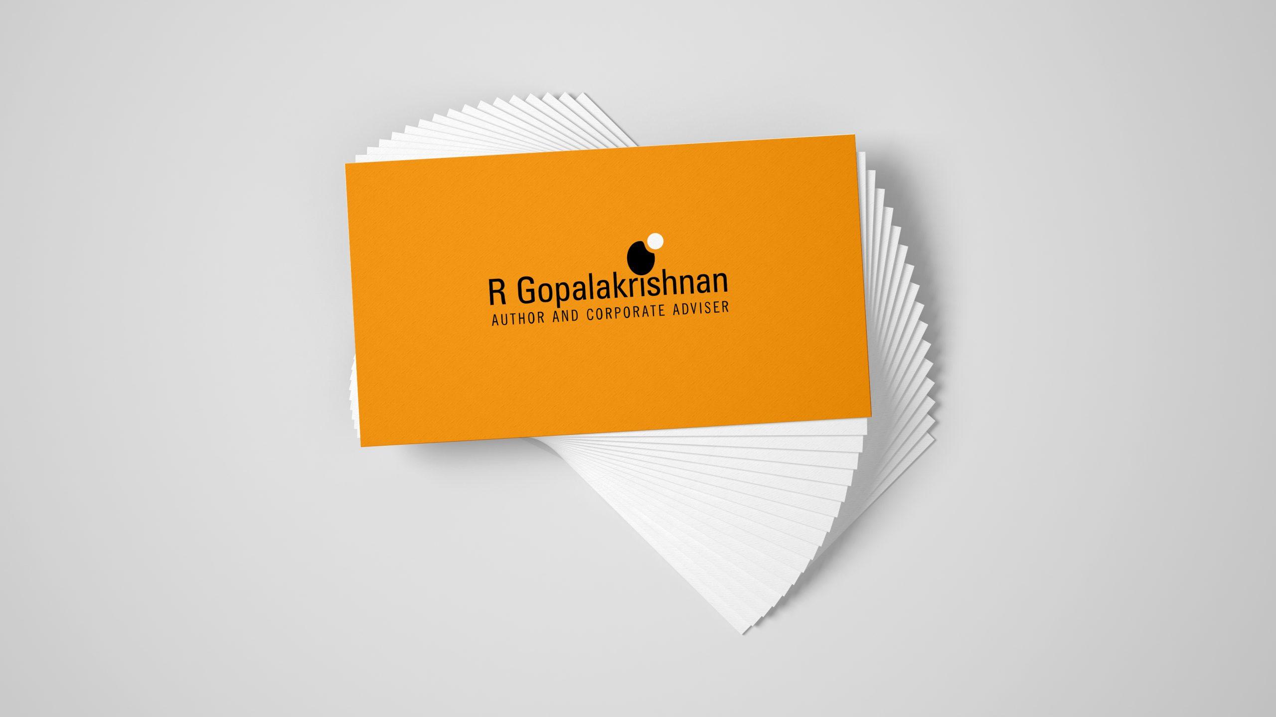 R Gopalakrishanan - Author & Corporate Adviser