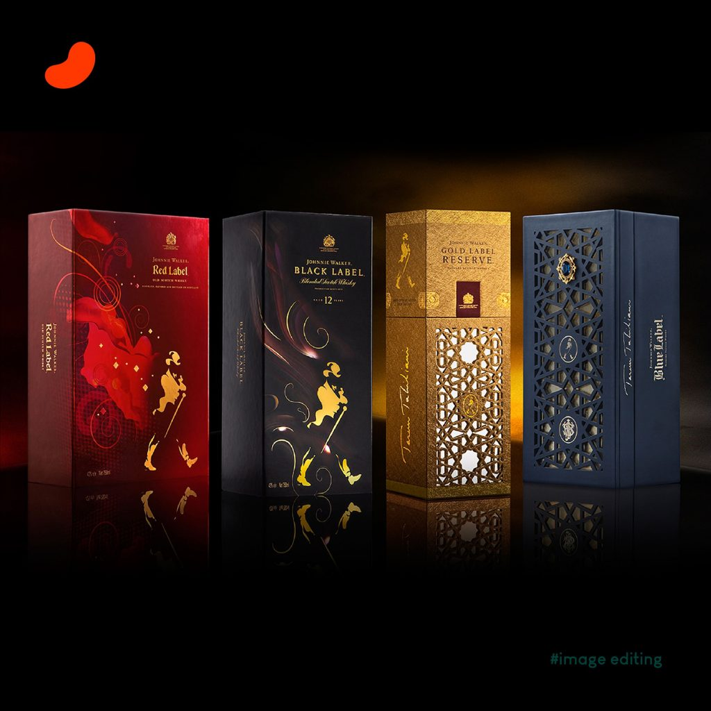 Johnnie Walker, Products Photography by Kunal Kampani, Edited by Orrigem Design Hub