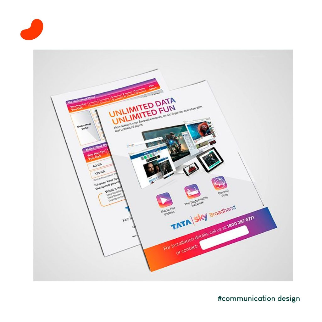 Tata Sky Broadband, Leaflet Design by Orrigem Design Hub