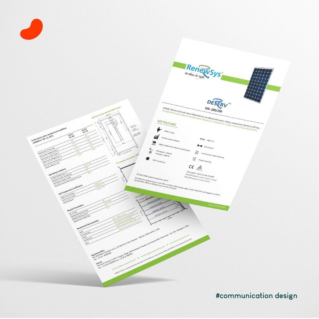 Technical Sheet, For RenewSys India, Design by Orrigem Design