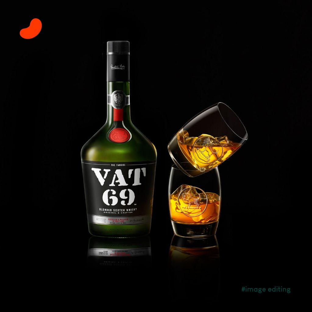 VAT 69, Products Photography by Harnish Joshi, Edited by Orrigem Design Hub